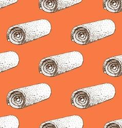 Sketch towel vector image