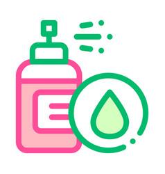 spray lotion drop cosmetic thin line icon vector image