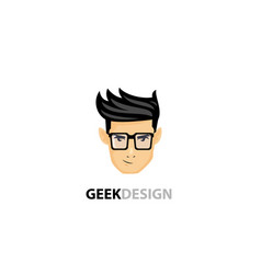 Stylish geek logo vector