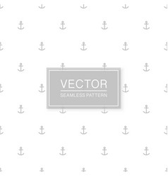 stylish seamless anchors pattern - simple vector image
