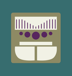 Technology gadget in flat design music center vector