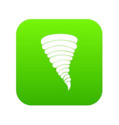 tornado icon digital green vector image