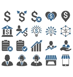 Trade business and bank service icon set vector image
