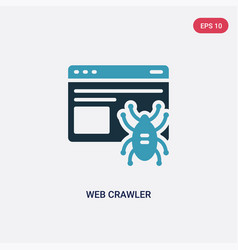 Two color web crawler icon from ui concept vector