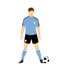Uruguay football uniform national team vector