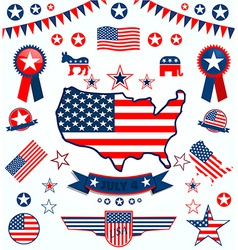 USA icons vector image