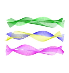 Waved design element vector image