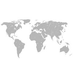 world map grunge background vector image