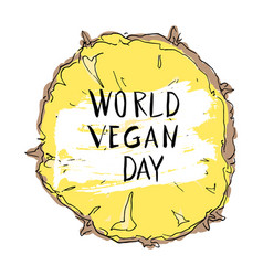 world vegan day concept vector image