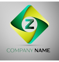 Z letter colorful logo in the rhombus template for vector