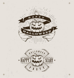 happy halloween logos vector image