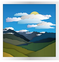mountain card paper vector image vector image