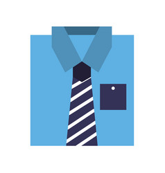stylish folded shirt icon vector image