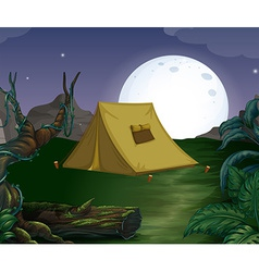 Tent and fullmoon vector image