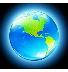 earth map globe vector image