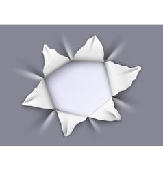 hole in aluminum vector image