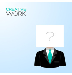 Man with a white sheet vector image vector image