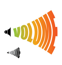 volume sound level changing loudness level of vector image