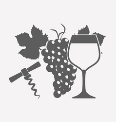 wine drink related icons vector image vector image
