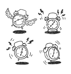 Four alarm clocks icons vector image vector image