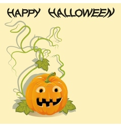 Greeting card with Halloween pumpkin vector image vector image