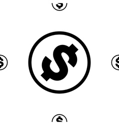 Money icon seamless pattern vector image