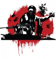 tank commander vector image