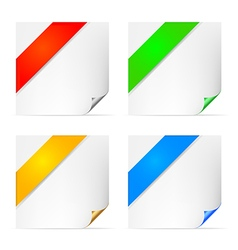Curle pages vector image