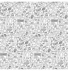 Doodle rest seamless vector image vector image