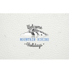 Mountain and Outdoor Adventures Mountain Hiking vector image