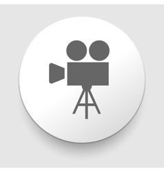 movie symbol on gray background vector image vector image