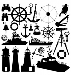 nautical elements vector image vector image