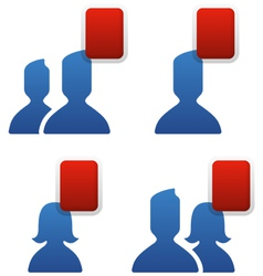 social networking friends vector image vector image