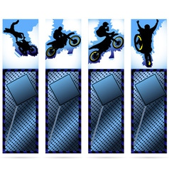 web elements on metalic background with motorcycle vector image vector image