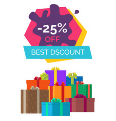 -25 off best discount exclusive sale poster gifts vector