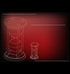 3d model of an hourglass vector image