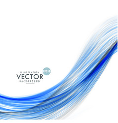 Abstract blue wave background made with lines vector
