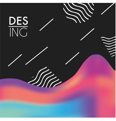 Abstract fluid decoration backgroun design vector