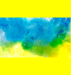 abstract surface blue mixed yellow splash vector image