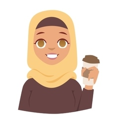 Arabic woman vector image