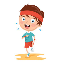 Athlete kid vector