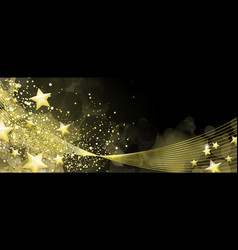 Black and gold banner vector