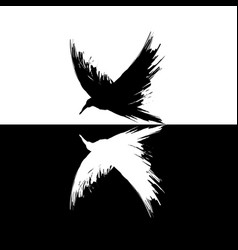 Black and white raven vector