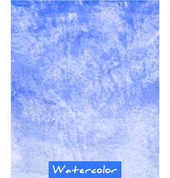 blue abstract watercolor hand draw background vector image