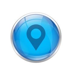 Blue location Icon vector image