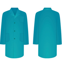 blue medical coat vector image