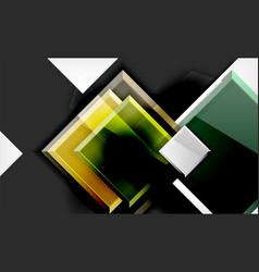 bright colorful square shape blocks geometrical vector image