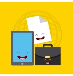 Business character flat icons vector