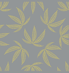 cannabis leaves seamless pattern background vector image