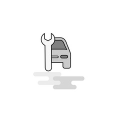 car garage web icon flat line filled gray icon vector image